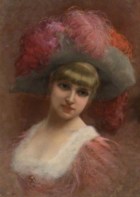 Young Lady in a Feather Hat