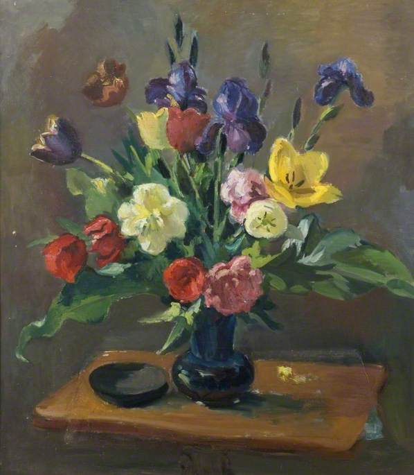 Still Life, Tulips and Irises