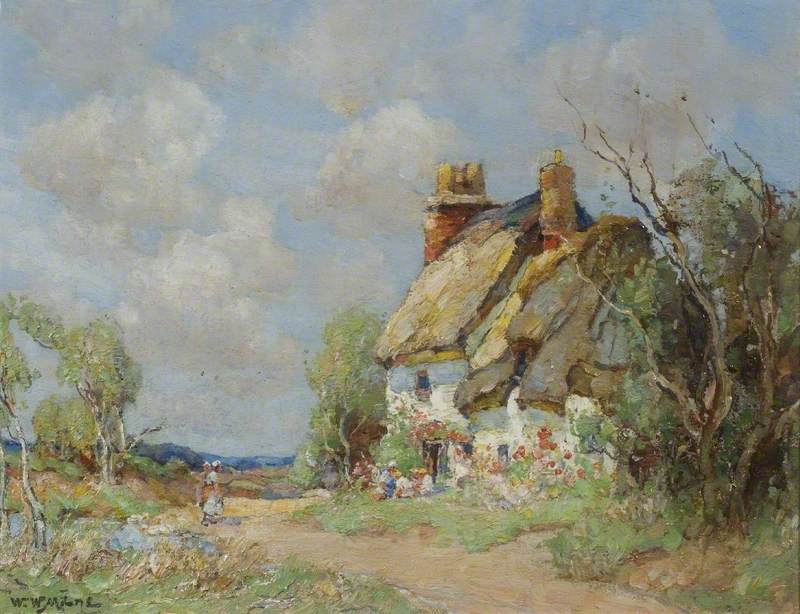 A Thatched Cottage at Houghton, Cambridgeshire