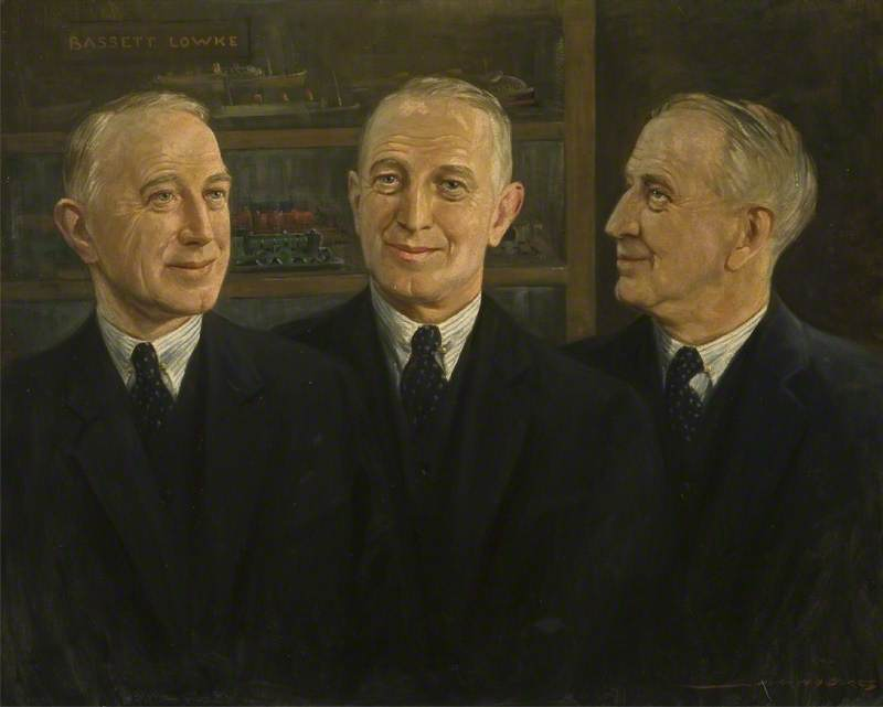 Triple Portrait of Mr Bassett-Lowke (1877–1953)