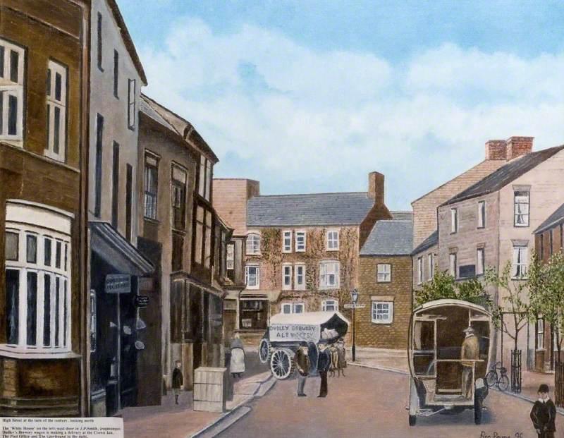 Rothwell High Street Looking North, Northamptonshire, c.1900