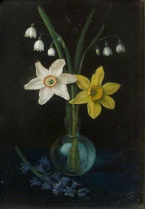 Four Natives of Ancient Britain, Daffodils, Narcissi, Lily of the Valley and Bluebells