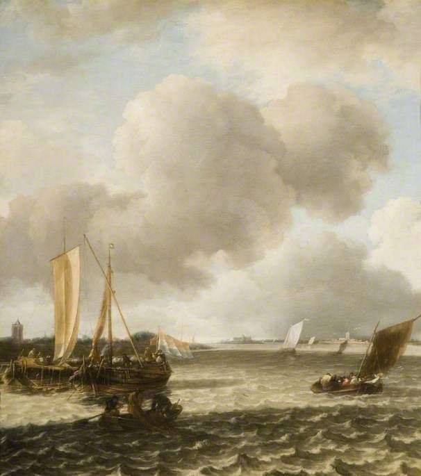 Boats on Ruffled Water
