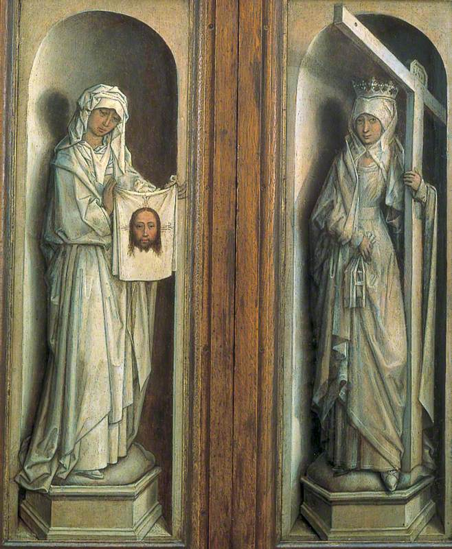Saint Veronica (left wing), Saint Helena (right wing)