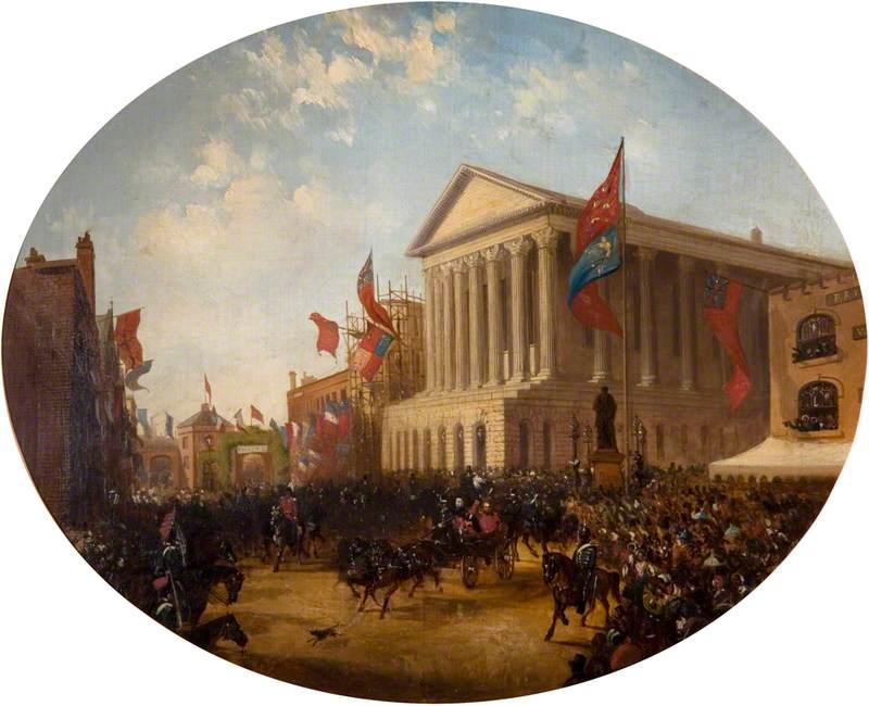 The Duke of Cambridge Leaving the Town Hall, Birmingham