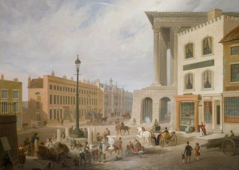 Birmingham Town Hall and Queen's College