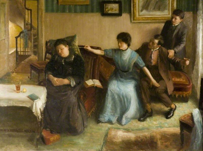 Portrait of the Artist's Family, a Playful Scene