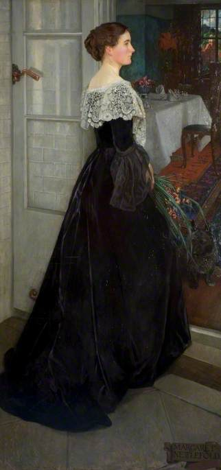 Margaret Nettlefold before Her Dining Room at Winterbourne