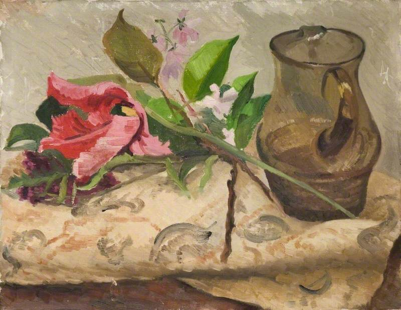 Still Life with Flowers and Water Jug