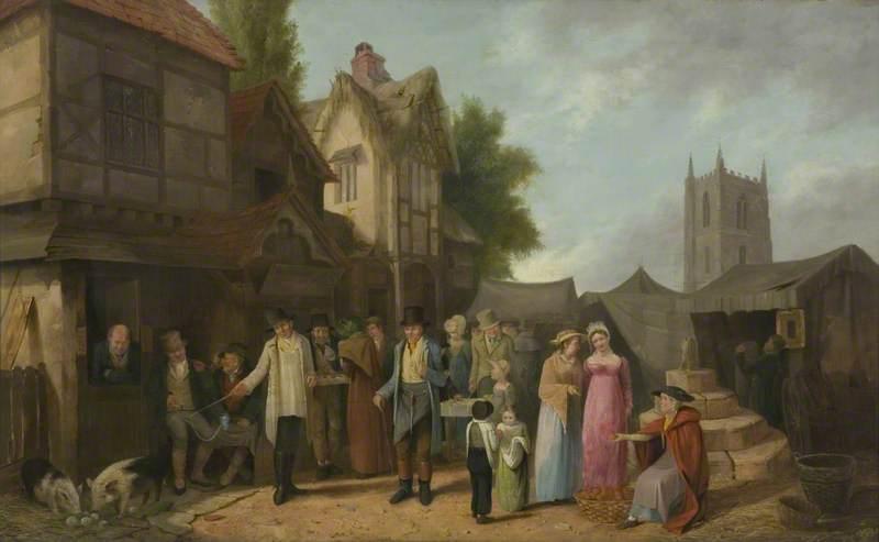 Scene outside an Inn (perhaps at Long Ashton), Bristol