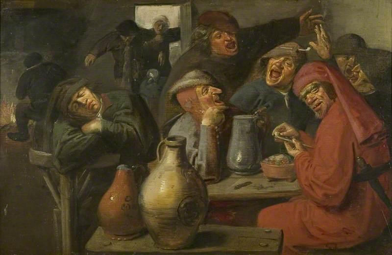Interior of a Tavern, Peasants Carousing