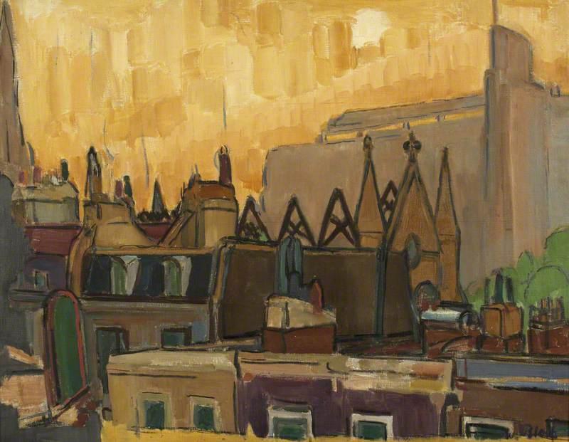 Kensington Roofs after a Fire Raid, 1942