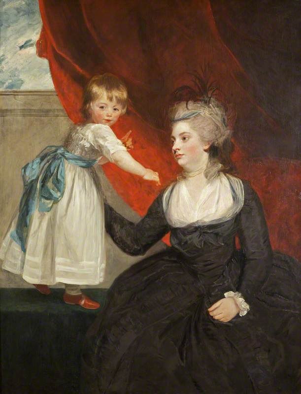 The Honourable Frances Courtenay, Lady Honywood (b.1763), and Her Daughter