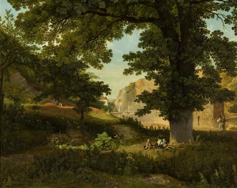 Clifton Rocks from Rownham Fields