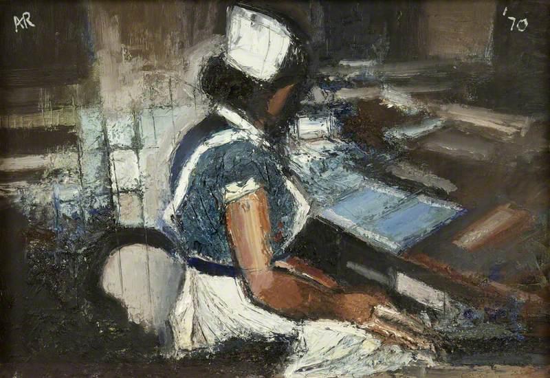 Night Nurse at Desk