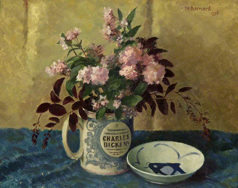 Deutzias in a Dickens mug