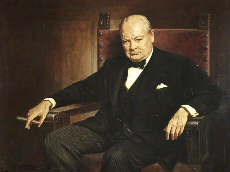 Sir Winston Churchill (1874–1965), KG, OM, CH, TD, PC, Honorary Member (1946)