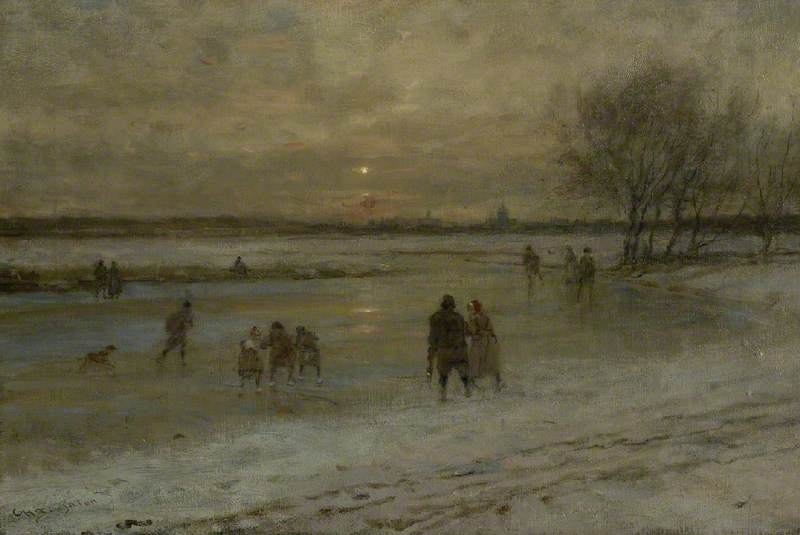 Winter Scene in Holland