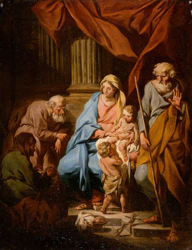 The Holy Family with Saints Elisabeth and Zaccharias and the Infant Saint John