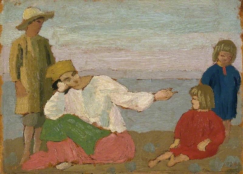 Dorelia and the Children at Martigues