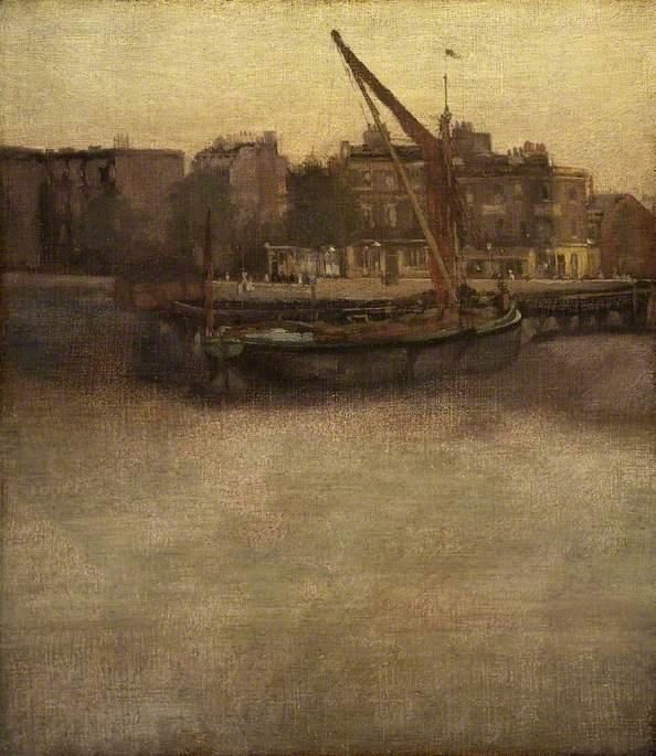 Symphony in Grey and Brown: Lindsey Row, Chelsea