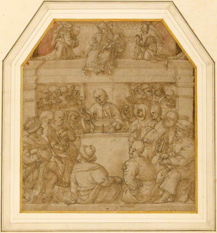 The Young Christ Preaching in the Temple – Virgin with the Christ Child