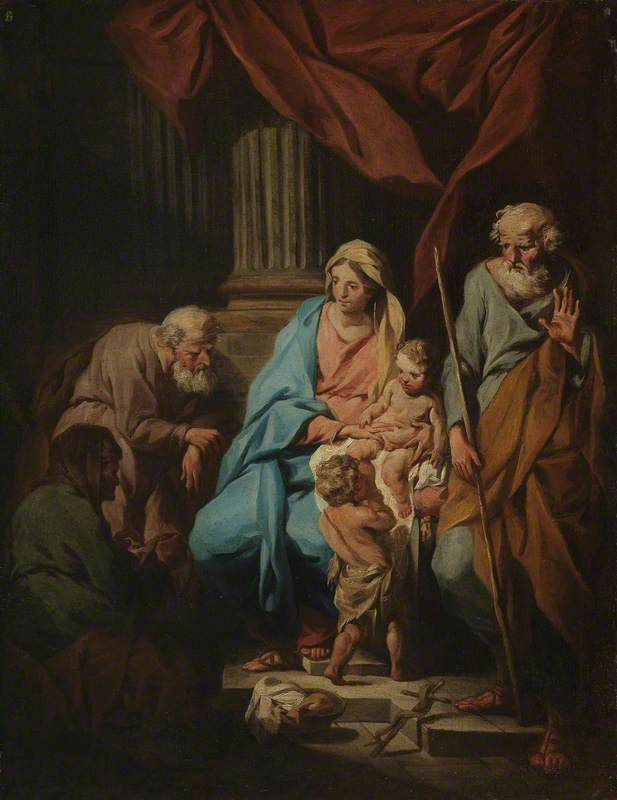 The Holy Family with Saint Elizabeth and Saint Zacharias with Their Infant Saint John