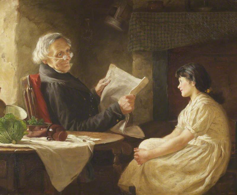 Portrait of an Elderly Man and a Young Woman