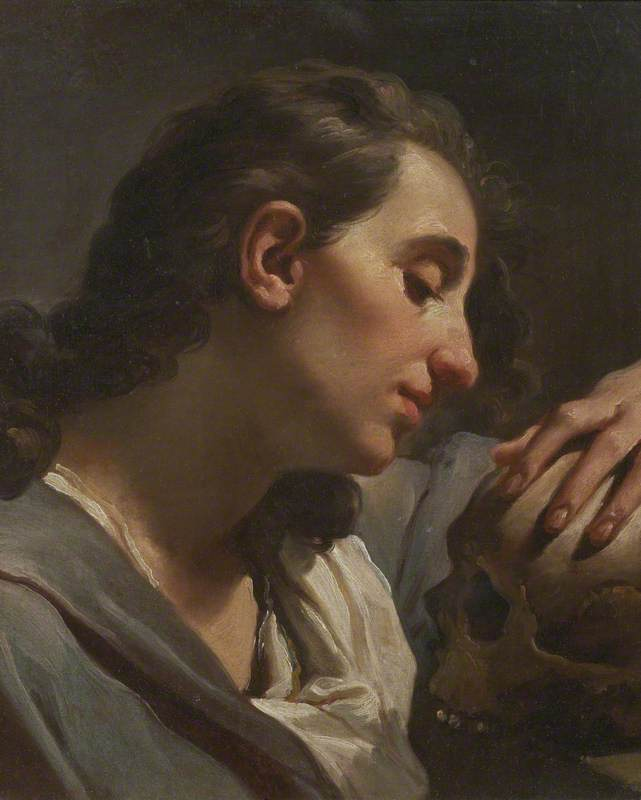 Study of a Lady Contemplating a Skull