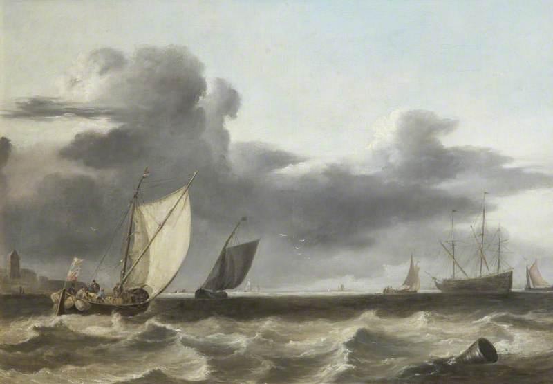 Fishing Vessels in a Choppy Sea