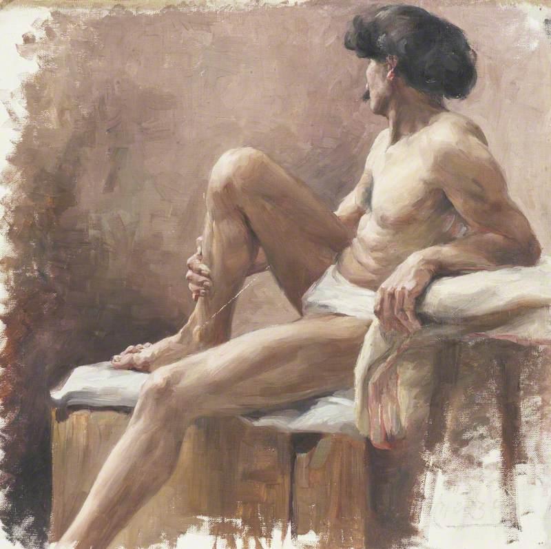 Study of a Near-Naked Man