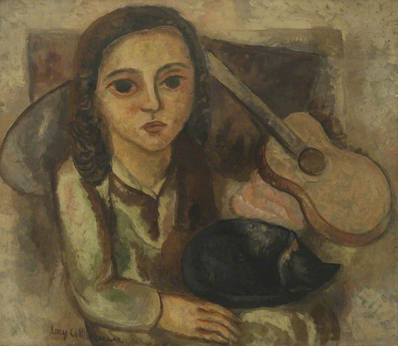 Menina e gatto (Girl with a Cat)