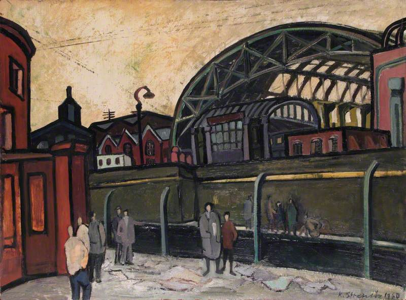 King's Cross Train Shed, Looking South across the Canal (?)