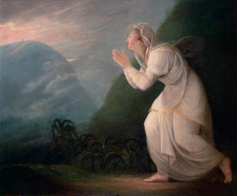 A Persian Lady Worshipping the Rising Sun