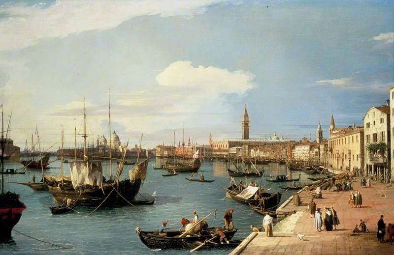 View in Venice, on the Grand Canal (Riva degli Schiavoni)