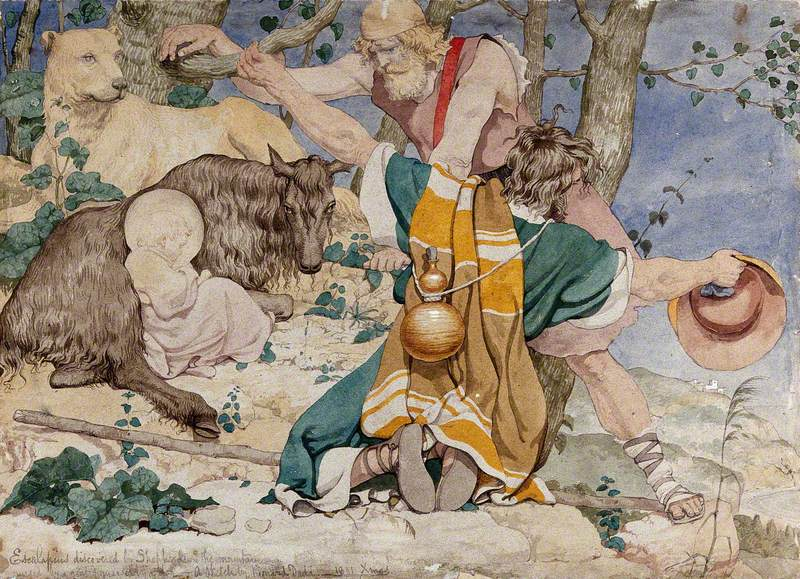 The Infant Aesculapius Discovered by Shepherds on a Mountain