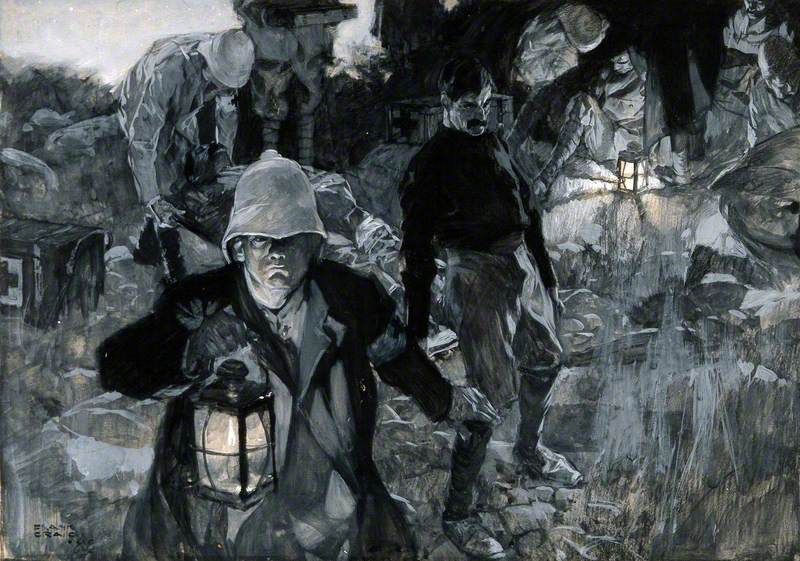 Boer War: Searching for the Wounded from the Battlefield at Night