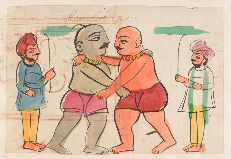 A Pair of Wrestlers