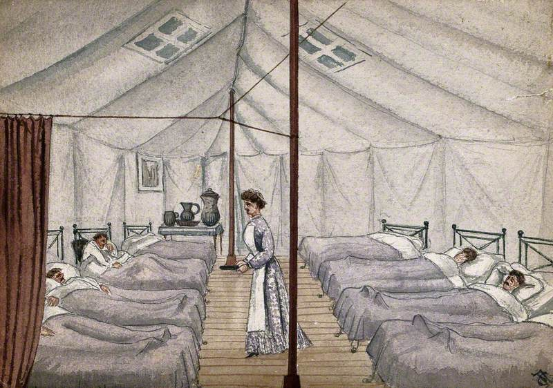 St Pancras Smallpox Hospital, London: Housed in a Tented Camp at Finchley