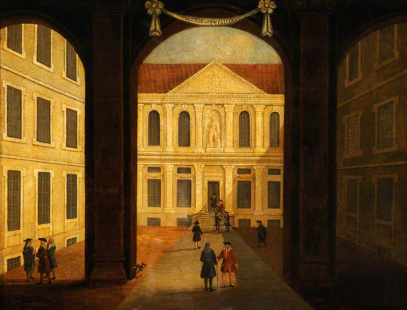 The Royal College of Physicians, Warwick Lane, London: Interior of the Courtyard