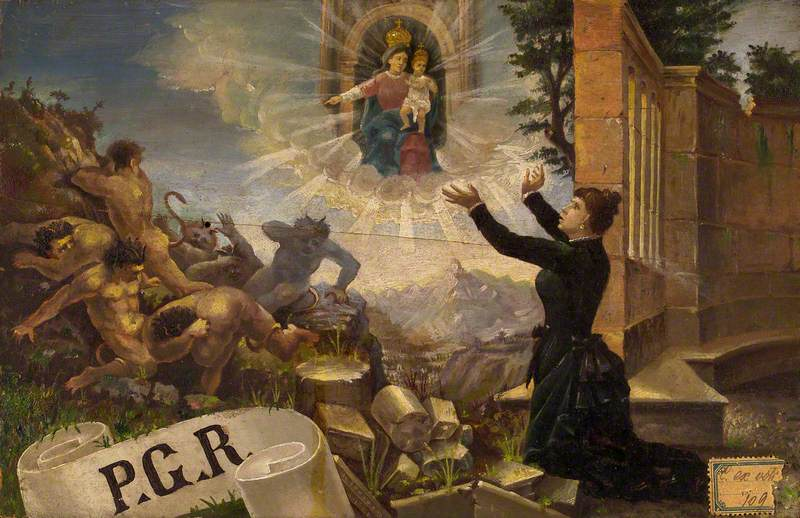A Woman Expressing Thanks to the Madonna del Parto for a Cure of Insanity in the Form of Expelled Devils