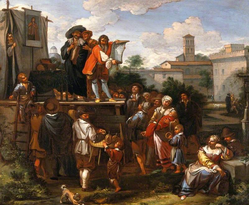 Itinerant Medicine Vendors in Rome