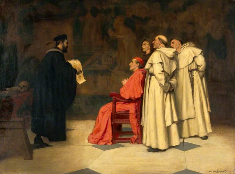 Gabriel Falloppius (Fallopius), Explaining One of His Discoveries to the Cardinal Duke of Ferrara