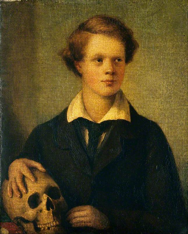 A Young Man with a Skull