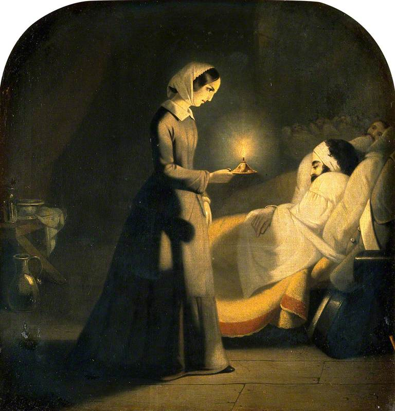 Florence Nightingale as the Lady with the Lamp