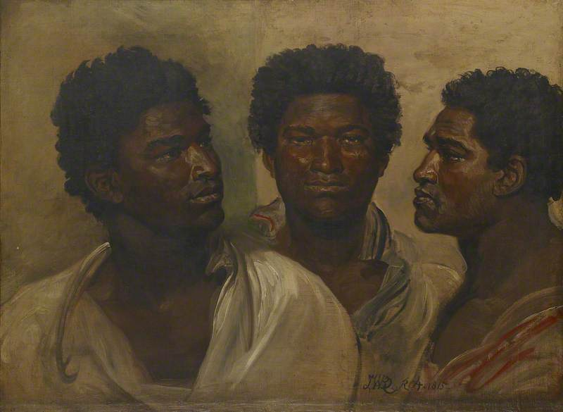 Three Views of the Head of a Native (probably a Sakalava), Madagascar