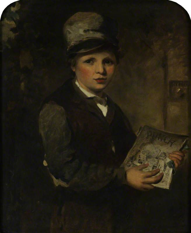 Boy Selling 'Punch'