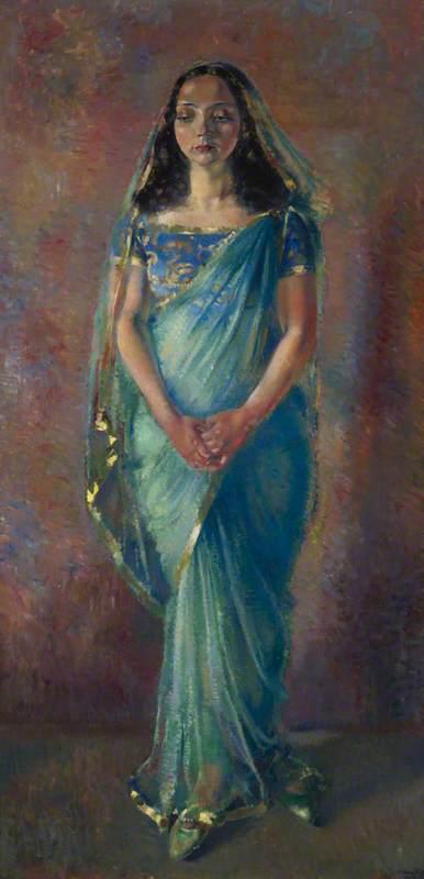 The Girl in the Green Sari