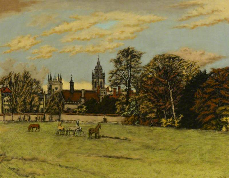 Cambridge, View from the Fen Causeway