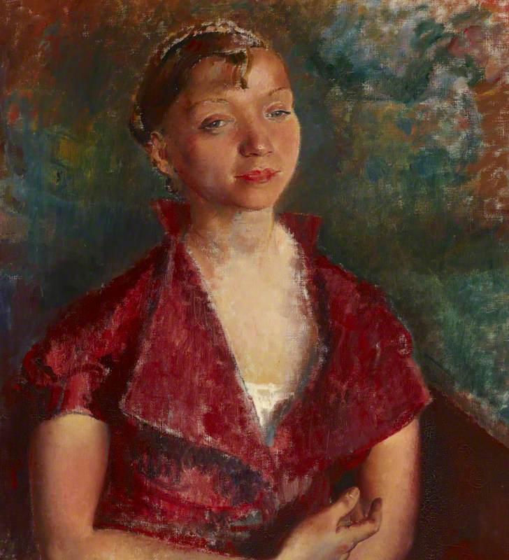 Portrait of the Artist's Sister Rachel (Rachel in a Red Dress)
